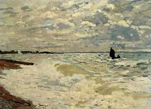 Claude Monet - o mar na Saint-Adresse