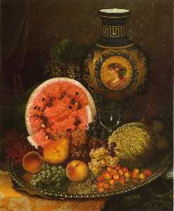 William Mason Brown - Natureza morta com frutas..