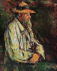 Paul Cezanne - retrato de vallier