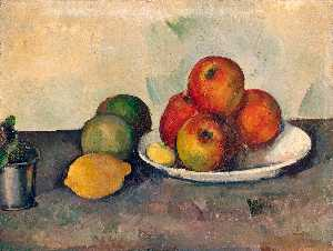 Paul Cezanne - Natureza morta com maçãs ..