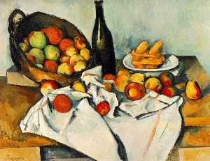 Paul Cezanne - Natureza morta com cesta ..