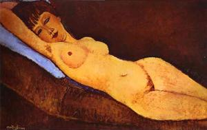 Amedeo Modigliani - nu reclinável com almofad..