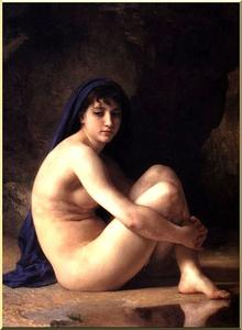 William Adolphe Bouguereau - sentada nú