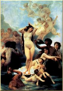 William Adolphe Bouguereau - o nascimento de vênus