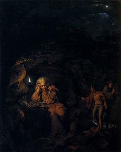 Joseph Wright Of Derby - a `philosopher` por lâmpada luz