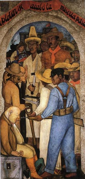 Morte do Capitalista, afrescos por Diego Rivera (1886-1957, Mexico)