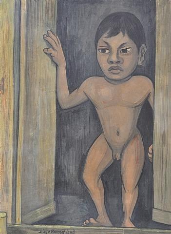Lot 39 Untitled, óleo por Diego Rivera (1886-1957, Mexico)
