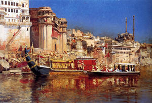 Edwin Lord Weeks - The Barge Of The Maharaja..