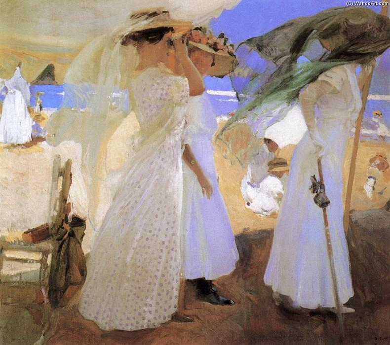 Beneath the Canopy, óleo por Joaquin Sorolla Y Bastida (1863-1923, Spain)