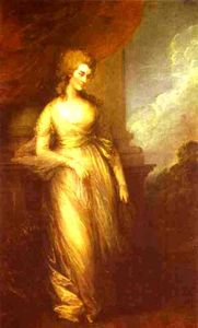Thomas Gainsborough - Georgiana, duquesa de Devonshire