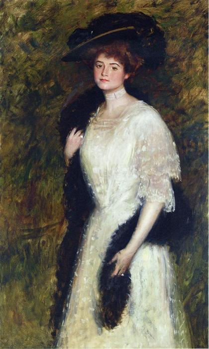 Ms. Helen Dixon, óleo sobre tela por William Merritt Chase (1849-1916, United States)