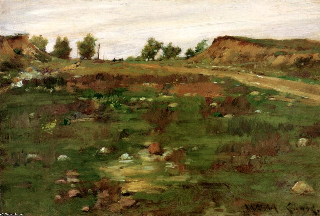 Shinnecock Hills, óleo sobre tela por William Merritt Chase (1849-1916, United States)