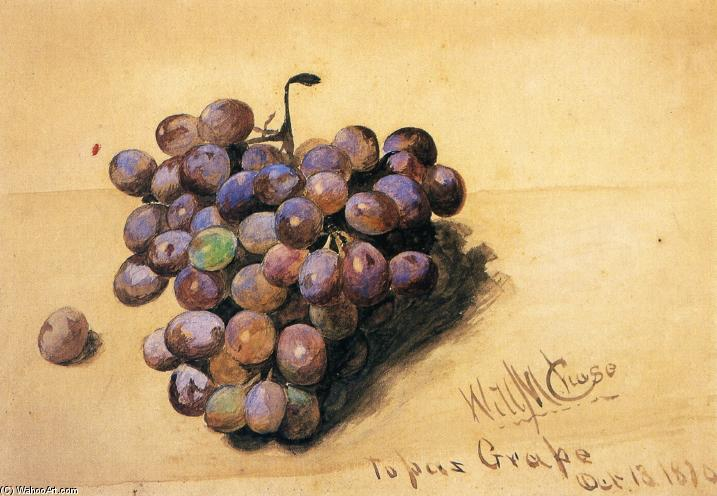 Topázio Grapes, 1870 por William Merritt Chase (1849-1916, United States)
