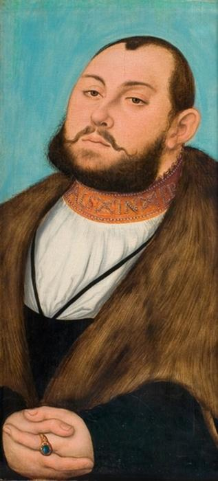 Johann Friedrich o Magnânimo, óleo por Lucas Cranach The Elder (1472-1553, Germany)