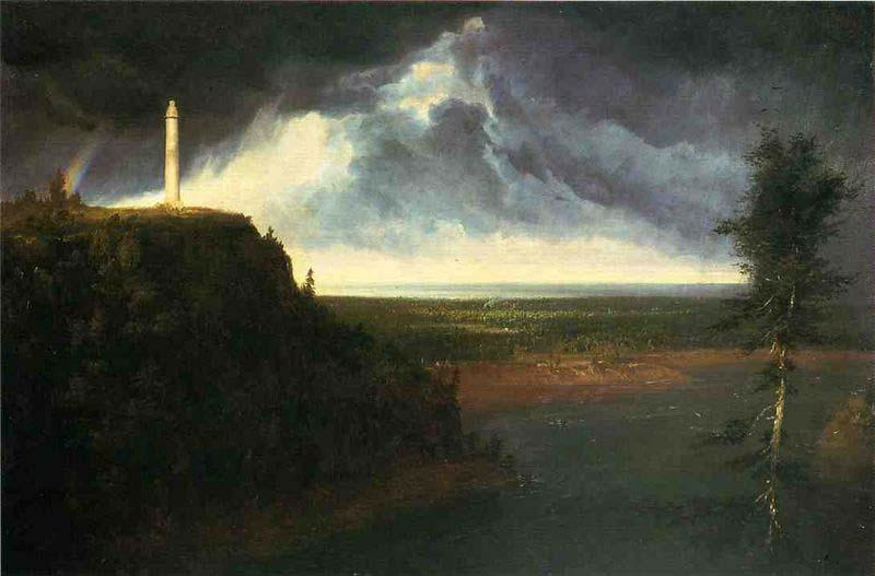 Monumento de Brock, óleo por Thomas Cole (1801-1848, United Kingdom)