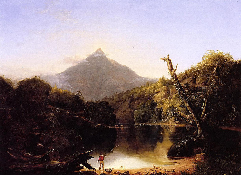 o monte chocorua , nova hampshire, óleo sobre painel por Thomas Cole (1801-1848, United Kingdom)