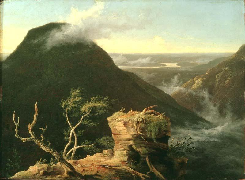 Vista do Round-Top nas montanhas de Catskill, Petróleo por Thomas Cole (1801-1848, United Kingdom)