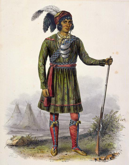 ASSEOLA, um líder do Seminole, óleo por Charles Bird King (1785-1862, United States)