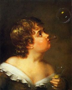 Charles Bird King - Blowing Bubbles
