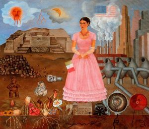 Frida Kahlo - Self-Portrait no Bordelin..