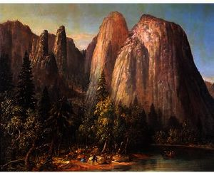 William Smith Jewett - Jupiter-s Pináculos , vale de yosemite