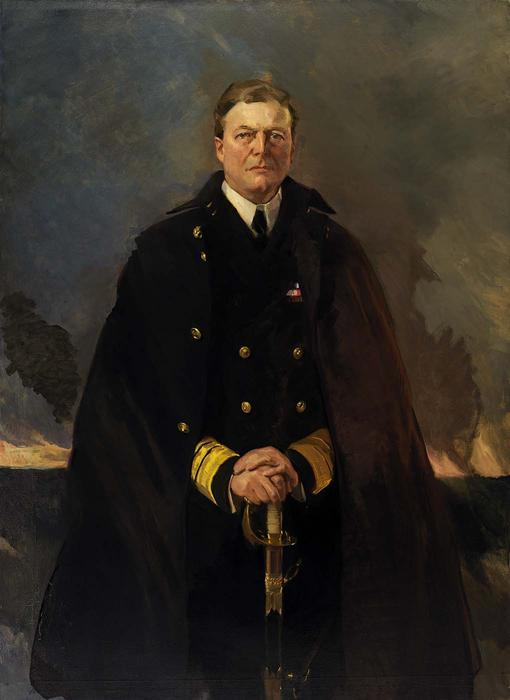 Almirante sir david beatty , senhor beatty 1, Petróleo por Cecilia Beaux (1855-1942, United States)