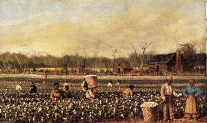 William Aiken Walker - Picking Cotton na frente ..