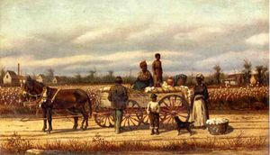 William Aiken Walker - noon` dia pausa no algodão campo