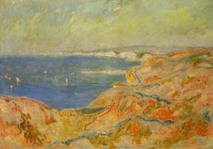 Claude Monet - No Cliff perto de Dieppe 1