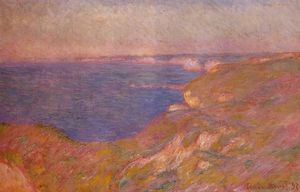 Claude Monet - No Cliff perto de Dieppe