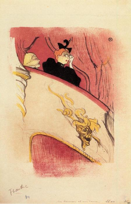 o box com o Guilded Mascarar, 1893 por Henri De Toulouse Lautrec (1864-1901, France)