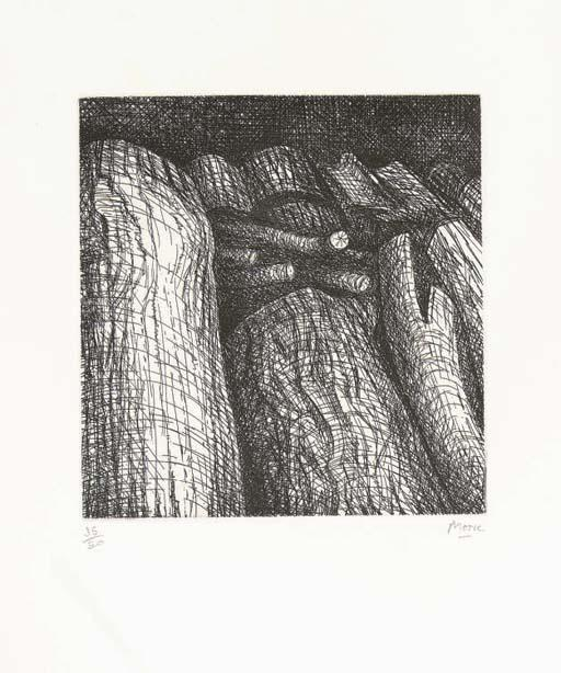 Log Pile I, óleo por Henry Moore (1898-1986, United Kingdom)