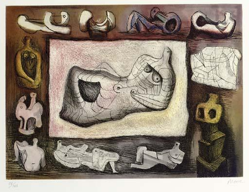 Escultural Ideal 5 por Henry Moore (1898-1986, United Kingdom) | Copy Pintura | ArtsDot.com