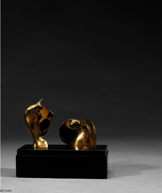 Two Piece Reclining Figure; Círculo Duplo, óleo por Henry Moore (1898-1986, United Kingdom)