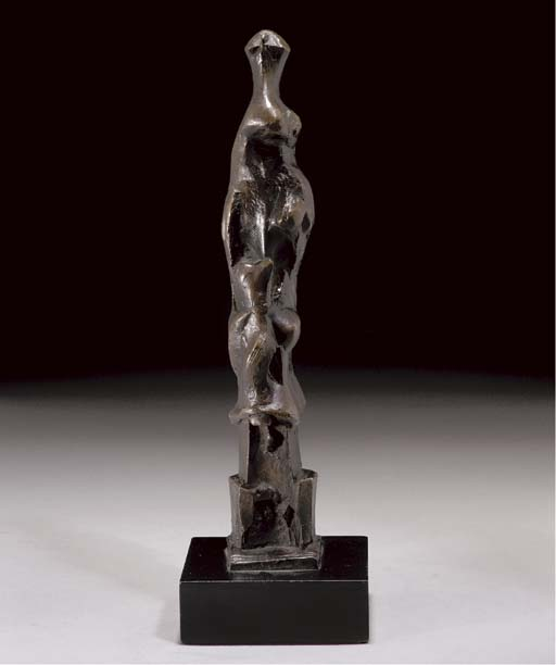 Motive vertical E, óleo por Henry Moore (1898-1986, United Kingdom)
