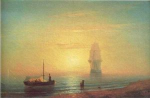 Ivan Aivazovsky - o pôr do sol no mar 1