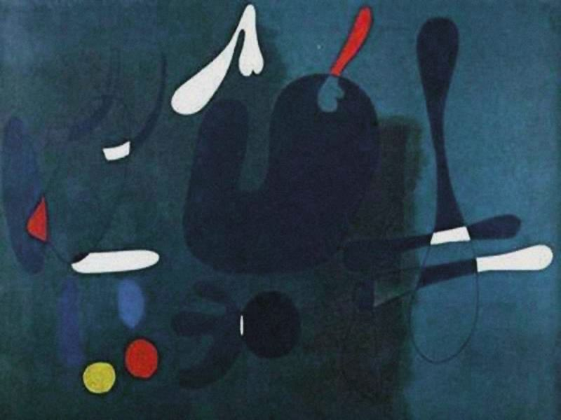 Composición, óleo por Joan Miro (1893-1983, Spain)