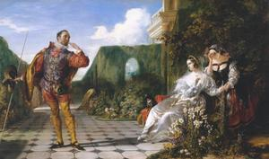 Daniel Maclise - Cena de `Twelfth Night- ( `Malvolio e o Countess- )