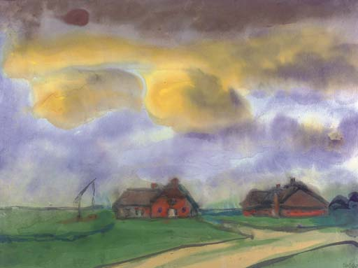 Marsh paisagem por Emile Nolde (1867-1956, Germany)