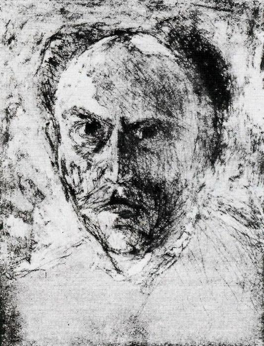 Self-portrait 1 por Emile Nolde (1867-1956, Germany)