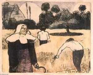 Emile Bernard - Le moissonneur (The Harvester)