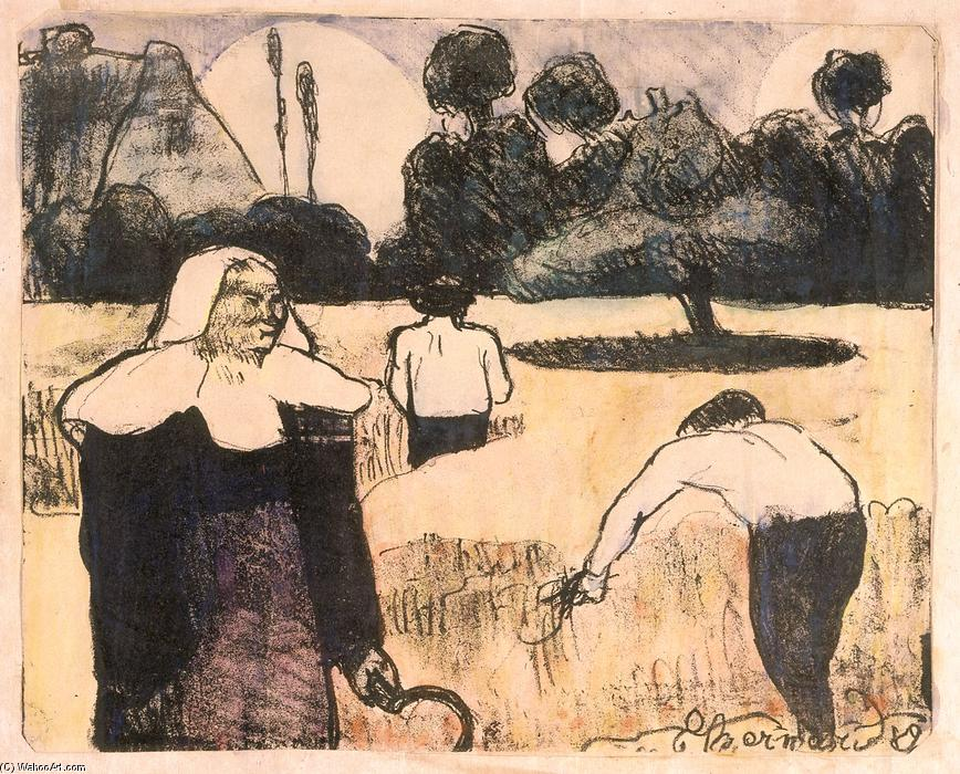 Le moissonneur (The Harvester) por Emile Bernard (1868-1941, France)