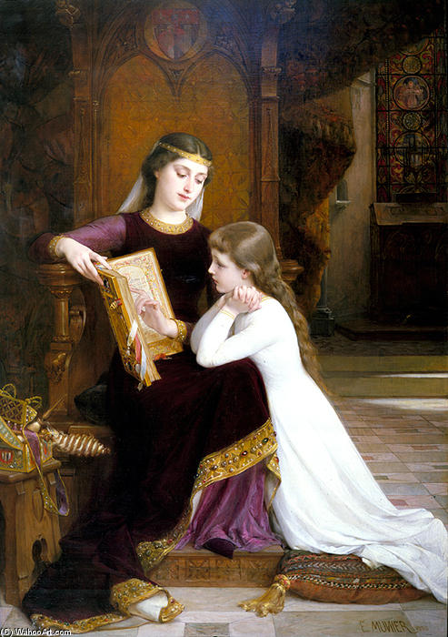 Autrefois (Long Ago) por Emile Munier (1840-1895, France)