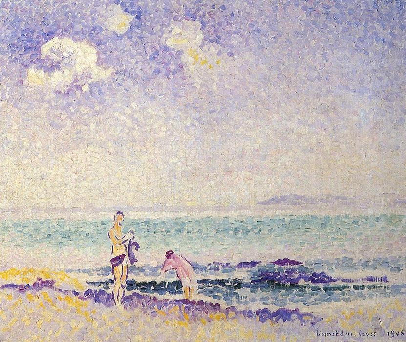 Banhistas 1 por Henri Edmond Cross (1856-1910, France)