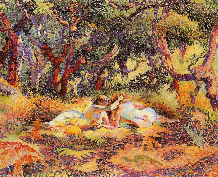 A Floresta, óleo sobre tela por Henri Edmond Cross (1856-1910, France)