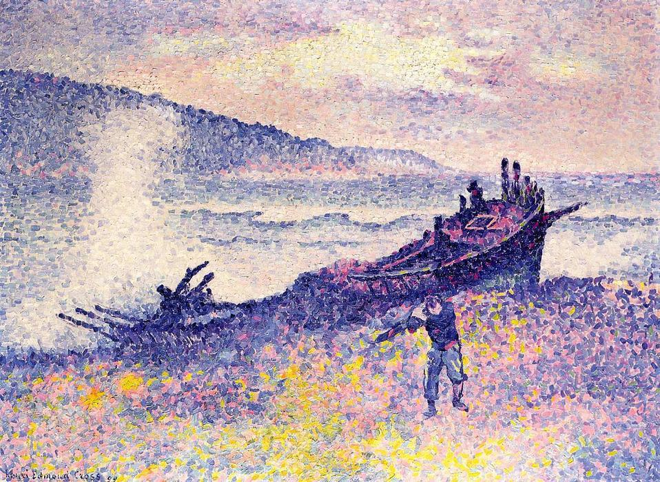 The Wreck, óleo sobre tela por Henri Edmond Cross (1856-1910, France)