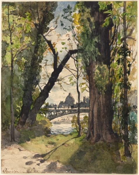 Paris do Bois por Henri-Joseph Harpignies (1819-1916, France)