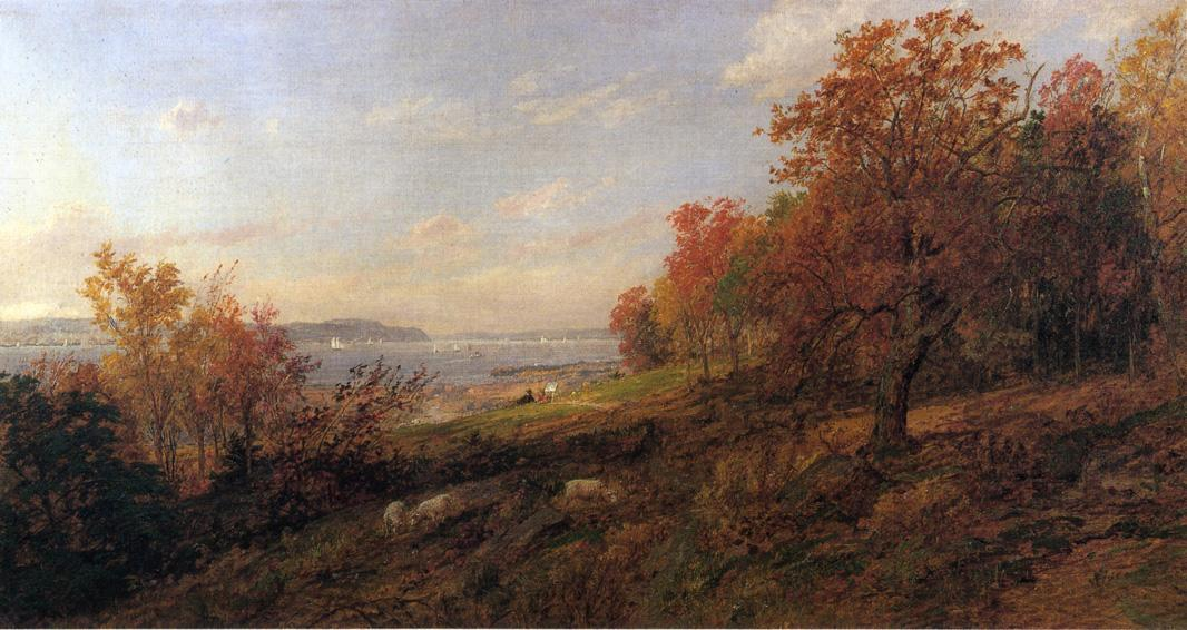 View from Hastings para o Tappan Zee, 1887 por Jasper Francis Cropsey (1823-1900, United States)