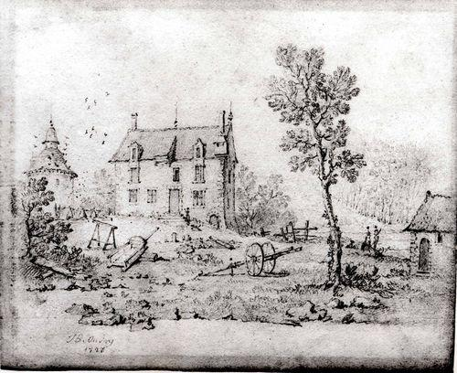 Country Farmhouse por Jean-Baptiste Oudry (1686-1755, France)