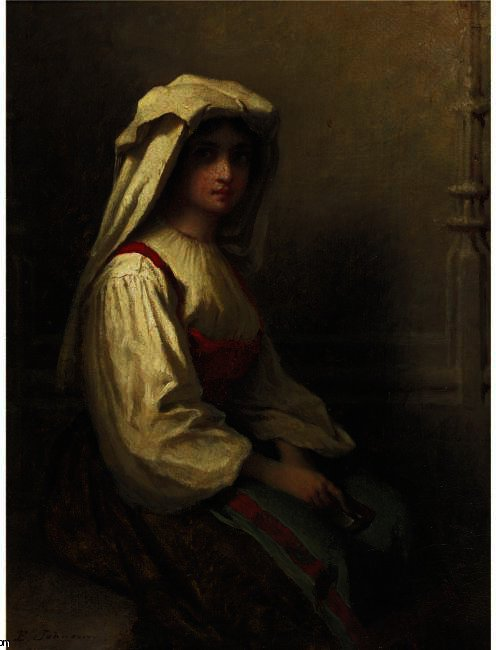 The Girl Bohemian por Jonathan Eastman Johnson (1824-1906, United Kingdom)